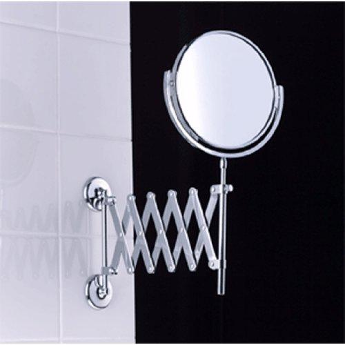 Samuel Heath L1108.SSF Extending Plain/Magnifying (X3) Mirror In Sat (Samuel Heath Mirror)