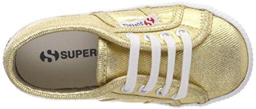 Superga 2750 Cotmetbump, Zapatillas Unisex Niños Gold (Gold)
