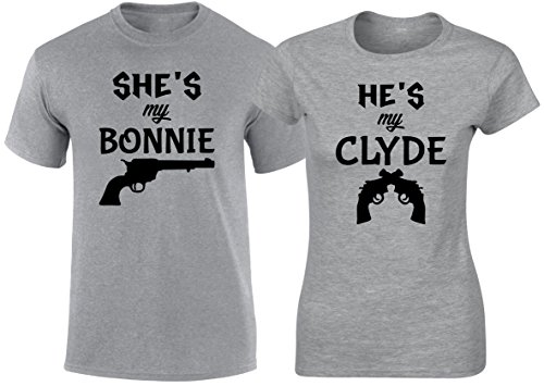 Matching Couple T Shirt Bonnie & Clyde Movie His & Her Outfit by SuperPraise