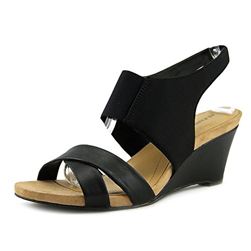 Sandalo Slingback In Pelle Nero Alfani Monah