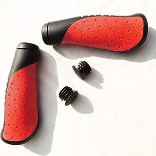 YLLY Bike Poignées de Guidon, Grip de poignée de vélo en Caoutchouc antidérapant pour vélo VTT MTB BMX (Rouge)