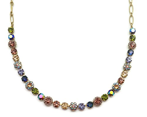 Mariana Swarovski Crystal English Gold Plated Necklace Multi Color Mosaic 1089 Odyssey Penelope