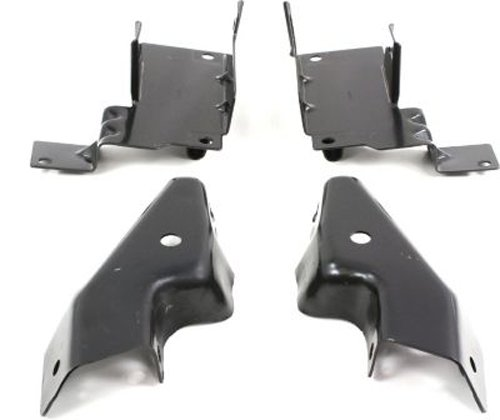 Crash Parts Plus Set of 4 Front Left and Right Side Bumper Brackets for Chevy Silverado GM1061101