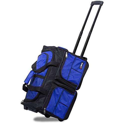 Hipack 20-inch Carry-on Rolling Duffle Bag Duffel, Blue, One Size