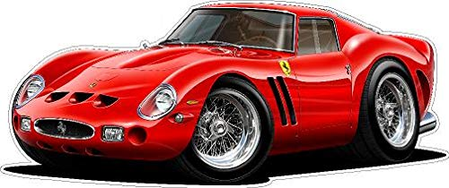 - Vintage Ferrari 250 GTO Factory Race Car Wall Decal 3ft Long (36