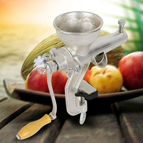 Wanlecy Manual Wheatgrass Juicer Slow Squeezer Fruit Vegetable Orange Juice Press Extractor Tin Plated Cast Iron