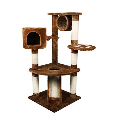 FTFDTMY Mehrschichtiger Katzenkletterrahmen, großer Kratzbaum im Innenbereich Einteilige Katzenhaus-Sisal-Säule Katzen…