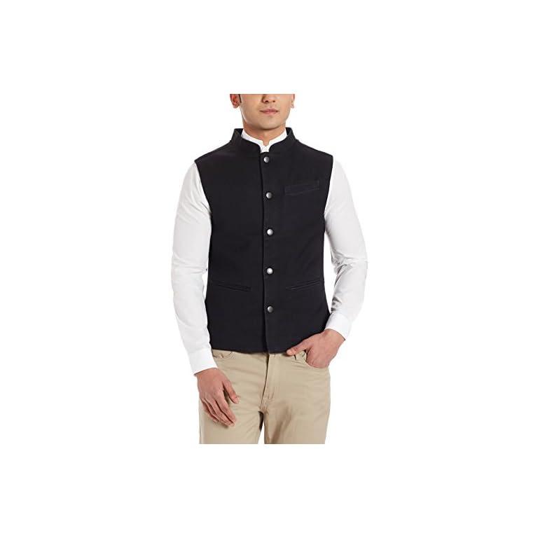41FN9a18P1L. SS768  - United Colors of Benetton Men's Cotton Waistcoat
