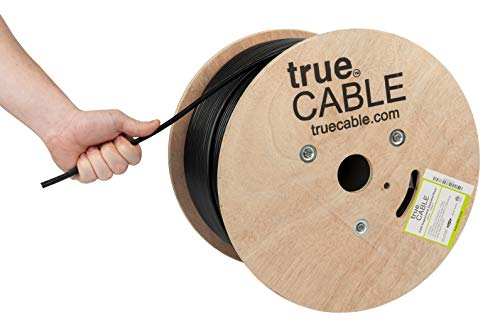 (Cat6A Shielded Riser (CMR), 1000ft, Black, 23AWG Solid Bare Copper, 750MHz, ETL Listed, Overall Foil Shield (FTP), Bulk Ethernet Cable, trueCABLE)
