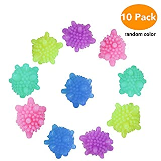 Washer Balls, McoMce Eco-friendly Dryer Balls 10 Pcs, Laundry Scrubbing Balls Tangle-Free, Solid Colorful Laundry Washing Balls Enhance Your Machine Cleaning Power, Lint Catcher for Washing Machine