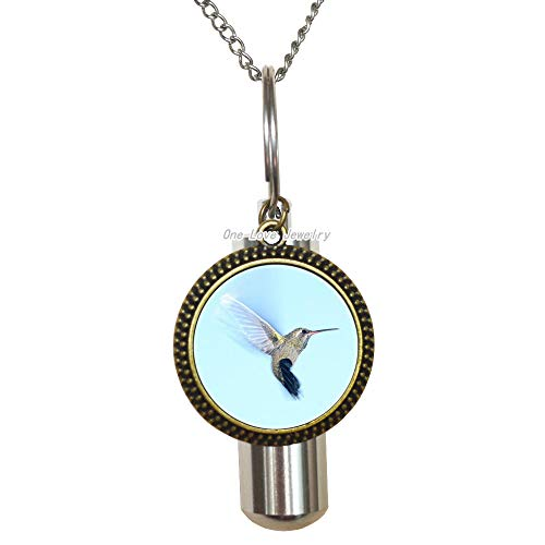 Ni36uo0qitian0ozaap Colibri Cremation URN Necklace Hummingbird Bird Animal Jewelry Little Bird Cremation URN Necklace Nature s Gift Tropical Style Nectar Colibri Gift,TAP366