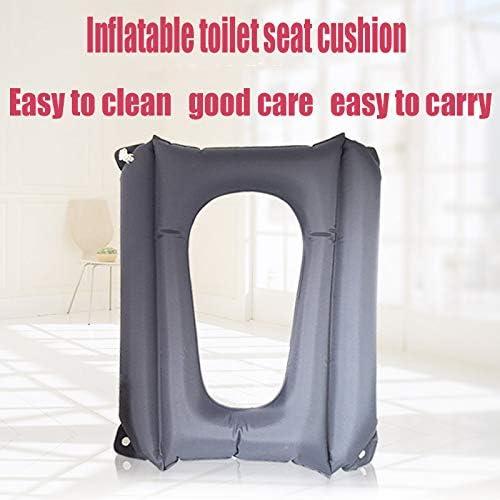 YUXINCAI Anti-Dekubitus-Kissen Rollstuhlkissen Aufblasbares Kissen Home Square Anti-Dekubitus-Toilettenkissen Toilettensitzkissen,Schwarz,45cmx37cmx33cm