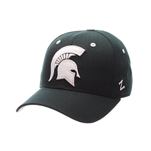 - ZHATS NCAA Michigan State Spartans Men's DH Fitted Cap, Forest, Size 7 5/8
