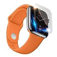 1-5Pcs compatible con el protector de la pantalla de la serie 4 del reloj de Apple (44mm), película transparente de la protección de la película del hidrogel de la explosión-prueba D, anti-rasguña la película de la pantalla.