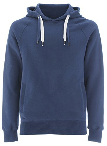 Faded Denim Blue Pullover Hoodie for Girls - X Small -XS Girls Hooded Sweatshirt by Underhood of London