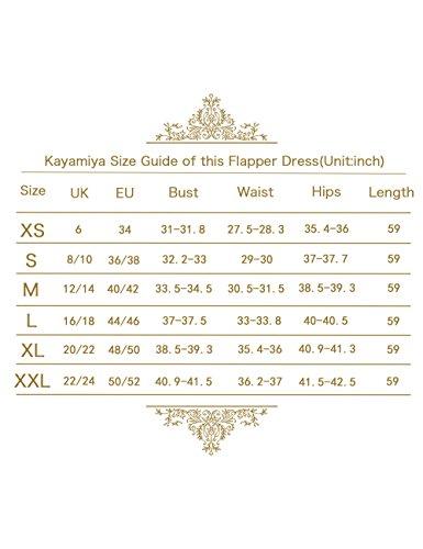 Jahre Pailletten Maxi Schwarz Kayamiya Lange Gatsby Perlen Damen Abendkleid Floral 1920er Flapper SnqxW4AZwf