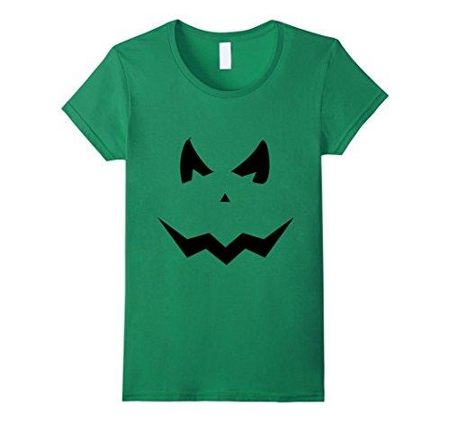 Womens Halloween jack o lantern Costume T-Shirt tee tshirt Medium Kelly (Female Green Lantern Halloween Costume)
