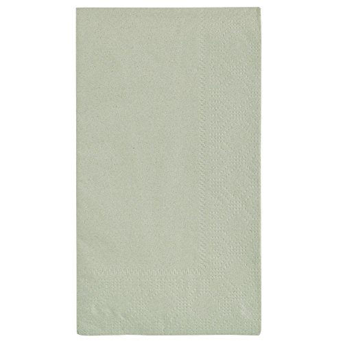 Hoffmaster 180546 Soft Sage Green 15'' x 17'' Green Paper Dinner Napkins 2-Ply - 1000/Case by Hoffmaster