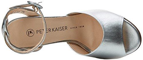 Peter Kaiser Olkara, Scarpe col Tacco Punta Aperta Donna Grigio (Silber Corfu 016)