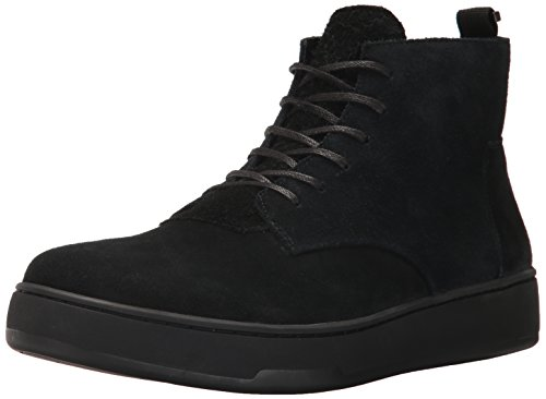 Calvin Klein Men's Natel Calf Suede Oxford, Black, 8 M US by Calvin Klein