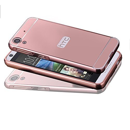 626 Series (HTC Desire 626S Case, HTC Desire 626 Case, TabPow Mirror Case Series - Electroplate Bumper Bling Luxury Slim Hard Back Case Cover For HTC Desire 626S/626, Rose Gold)
