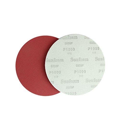 Sunmight 96220 1 Pack 6'' No Hole Velcro Foam Disc (Sunfoam Grit 1000) by Sunmight (Image #1)