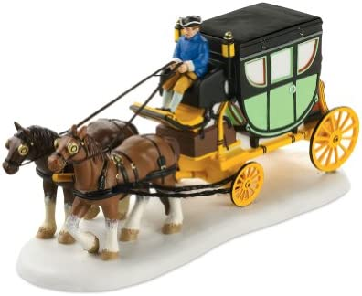 Department 56 Colonial Williamsburg Village Carter Coach Accessory Figurine