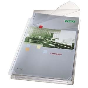 Leitz - Funda (PVC, A4, 170 micras, con tapa, 5 unidades)