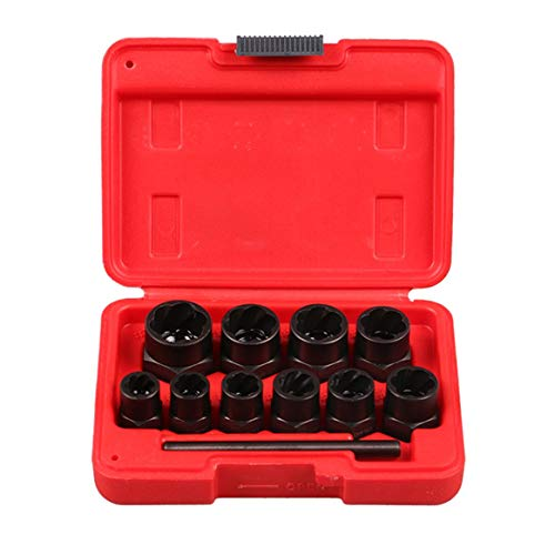 11PCS/Set Broken Screw Extractor Set Nut Screws Bolts Taken Out Tool Drill Bit Set Drills Remover Tool with Box