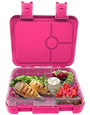 Munchebox Bento Box Kids -Bento Lunch Boxes - Meal Prep Lunch Box - Leakproof 4 Compartment Bento Box Style for Meal and Snack - for Children, Kids, Teens, Adults