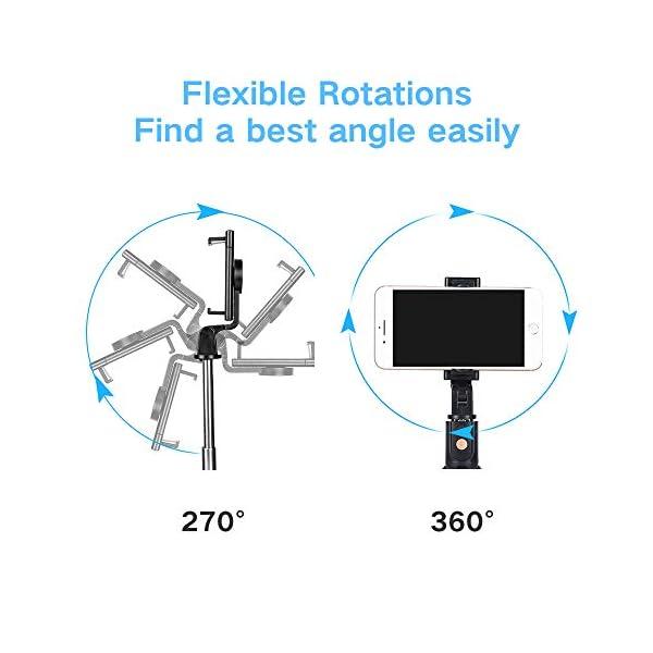 doosl Bastone Selfie Bluetooth, Selfie Stick Monopiede, Mini Estensibile 3 in 1 Selfie Stick Treppiede con Telecomando Wireless per Smartphone 5 spesavip