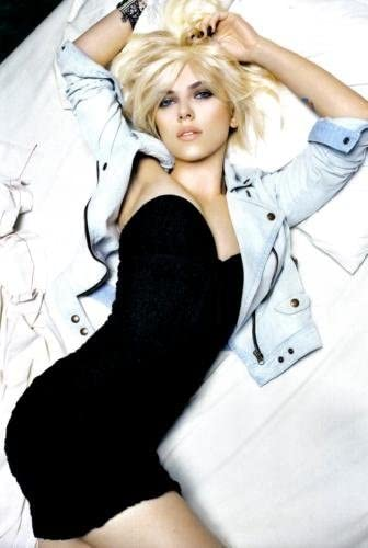 Scarlett Johansson Poster Black Minidress #02 24x36in
