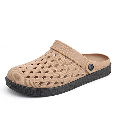 Clogs Hausschuhe Sommer Aqua Schuhe Pantoletten Strandschuhe Beach Herren Sandalen 36 für Damen Gaatpot Schwarz Atmungsaktiv Slippers 44 Unisex Braun RH5qfxf