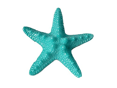 Rosetreee Bonsai Ornament Miniature Resin Starfish Tropical Ornament Beach Ocean Sea Star Garden Home Decoration (Lake Blue) Landscape Decoration