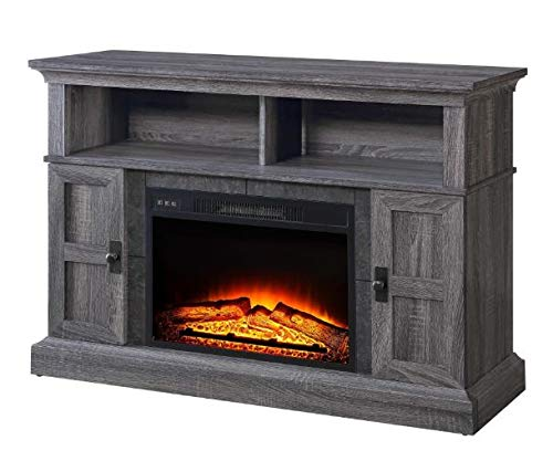 Winston.H.E- Electric Fireplace Media Center-Electric Fireplace Tv Stand-Gray for TVs Up to 55
