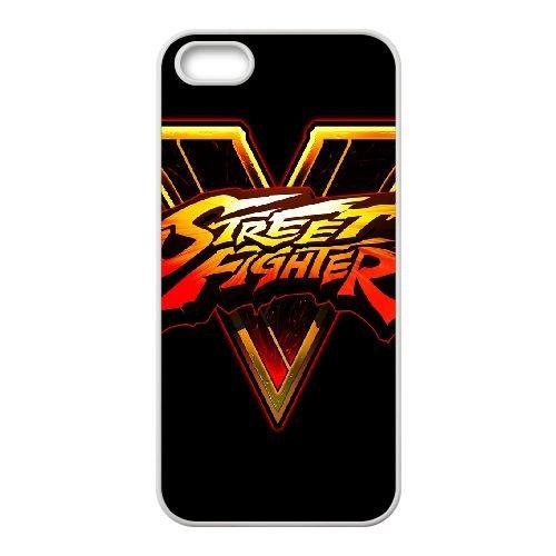 Street Fighter V Fighting Logo 143 coque iPhone 4 4s cellulaire cas coque de téléphone cas blanche couverture de téléphone portable EEECBCAAN03275