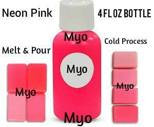 4 oz Bright Neon Pink Liquid Soap Colorant Dye Liquid Concentrate Color DIY Make Your Own Soap Melt & Pour Cold Process CP MP 4 Ounce Bottle (Neon Pink)