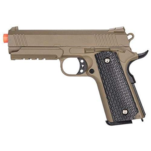 AirSoft G25D Metal 1911 Warrior Spring Pistol with Rail in Dark Earth