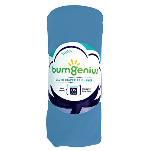 bumGenius Reusable Diaper Pail Liner – 26 x 30 – Fits Most Pails (Moonbeam)