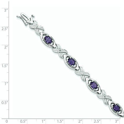 Argent Sterling diamant et améthyste style JewelryWeb