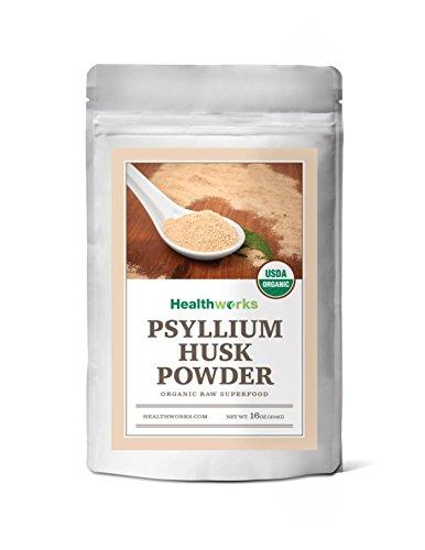 Healthworks Psyllium Husk Powder Organic, 1lb
