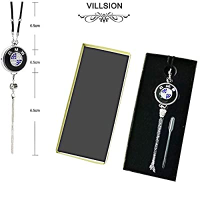 VILLSION Car Logo Fragrance Air Freshener Rearview Mirror Pendant Solid Perfume Scent for Car Accessories with Gift Box: Automotive