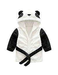 Kids Bathrobes Sleepwear Nightgowns Soft Pajamas Flannel Sleep Robe Toddler