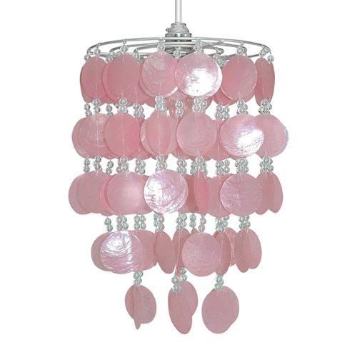 pink capiz shell hanging pendant ceiling light shade amazon co uk