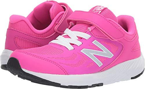 New Balance Girls' 519v1 Running Shoe, PEONY, 1M (Shoes Running Girl)