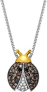Finecraft 1/4 ct Diamond Ladybug Pendant