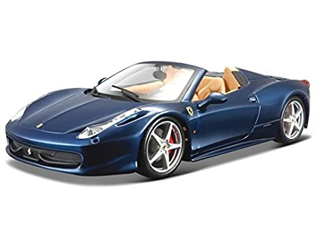 Ferrari 458 Spider Blue 1/24 By Bburago 26017