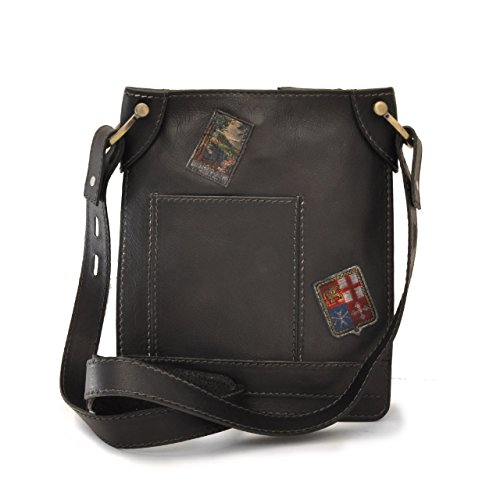 Pratesi Unisex Shoulder Bag Pelletterie Adult Black Skin