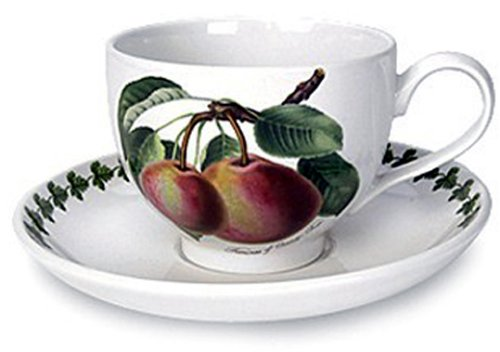 Portmeirion Pomona Traditional Shape Teacup and Saucer, Set of 6 Assorted Motifs