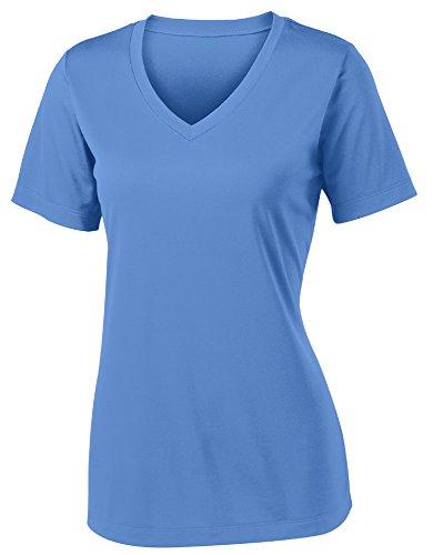 Opna Women's Short Sleeve Moisture Wicking Athletic Shirt, XX-Large, Carolina Blue